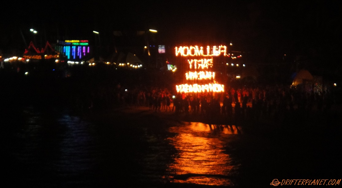 Full Moon Party from a distance