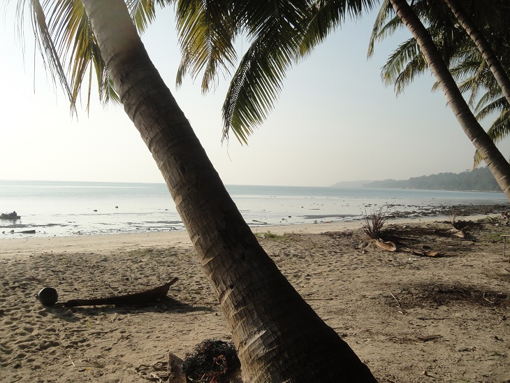 Kalapathar Beach in the middle of the forest. Pitch a tent here to stay overnight if you dare ;)