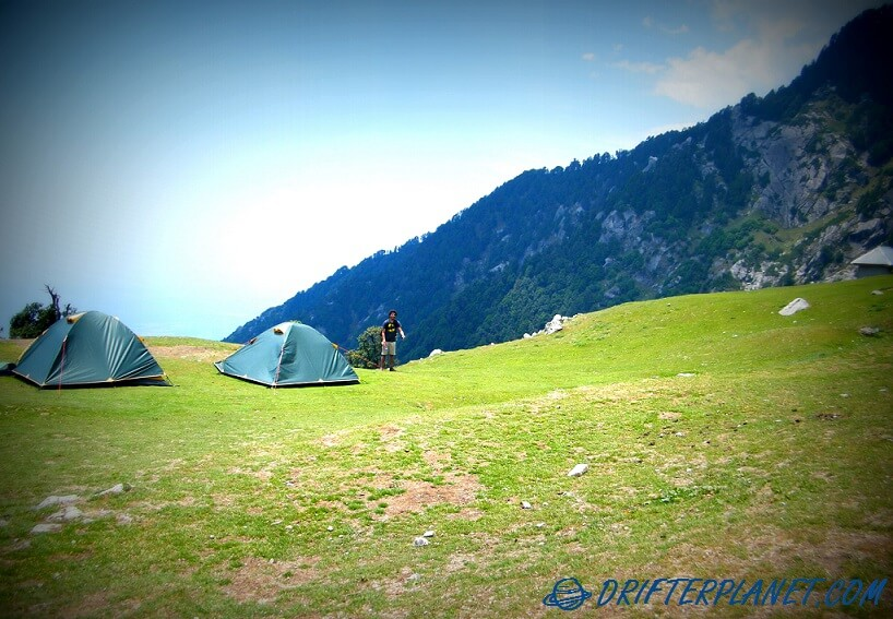 The camping area in Triund