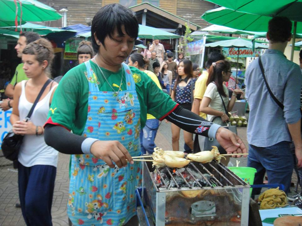 Thai Street food: Grilled Octopus