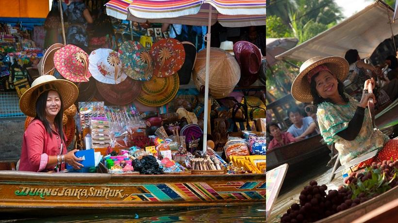 Bangkok Floating Market by Carmen Fernandes