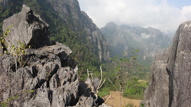 Cliff Climbing in Vang Vieng, Laos