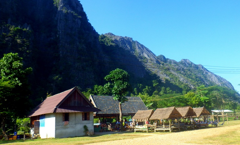 One of the bars while tubing in Vang Vieng