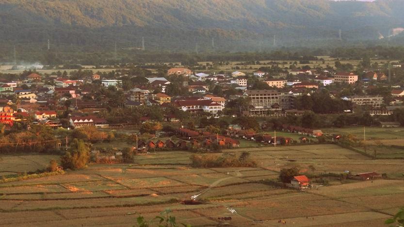The little town below