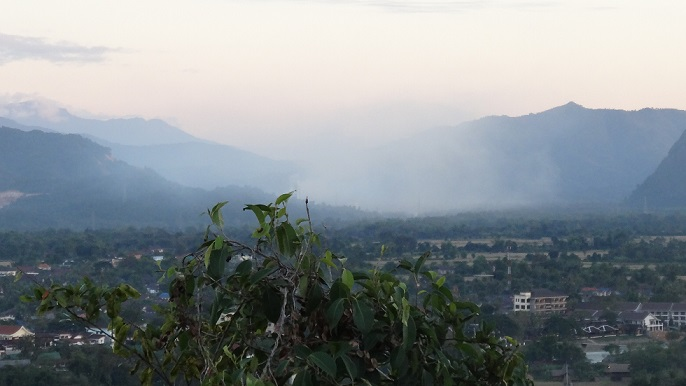 Vang Vieng View from the toop