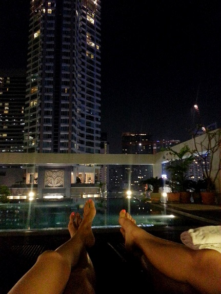 Our Roof Top Pool in I-Residence Silom. We got a good deal on the price here.