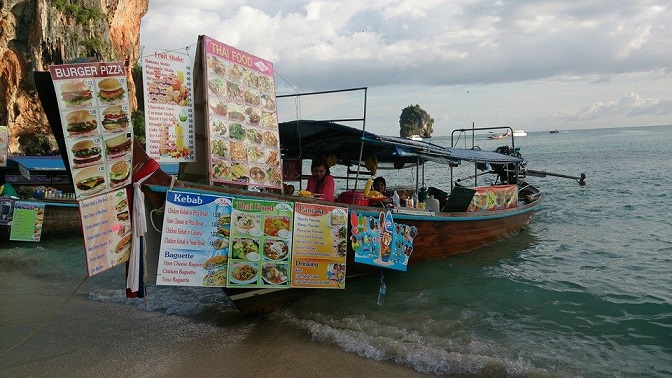 Boat Food on Phra Nang Beach