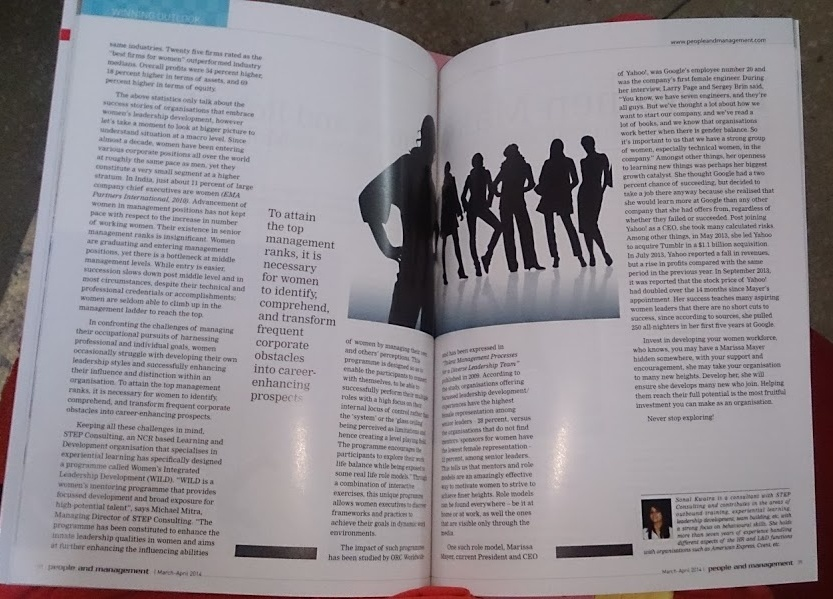 Sonal's feature on People and Management Magazine, April 2015