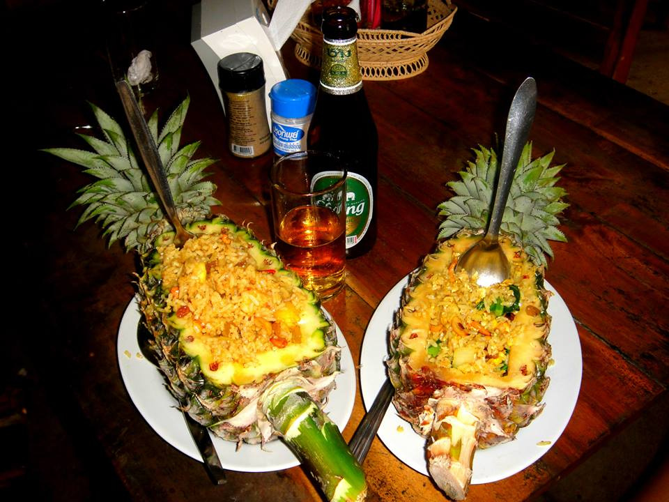 Pineapple Cashew Rice at Tom Yum Goong in Railay East by Drifter Planet