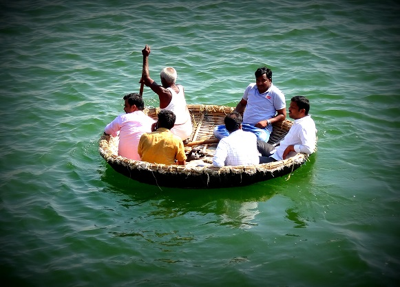 Hampi's unique round boats - don't they look like baskets