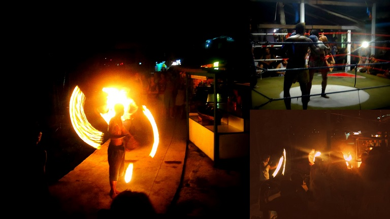Fire Dance and Muay Thai in Last Bar of Railay East by Drifter Planet