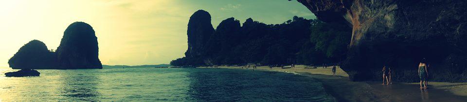 Panorama of Phra Nang Beach