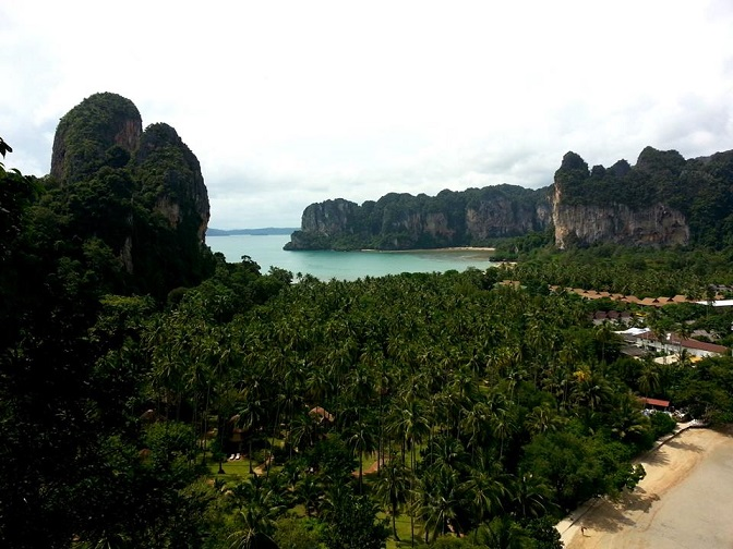 Railay West and East from the view point in Phra Nang by Drifter Planet