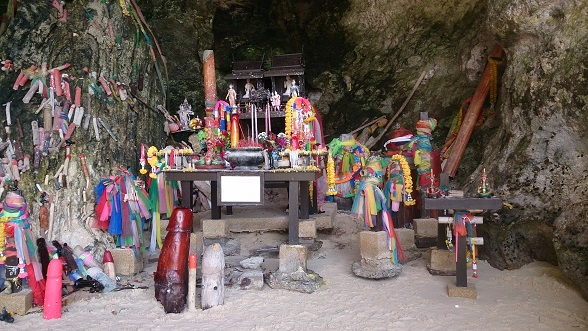 Shrine in Phra Nang Cave Beach by Drifter Planet