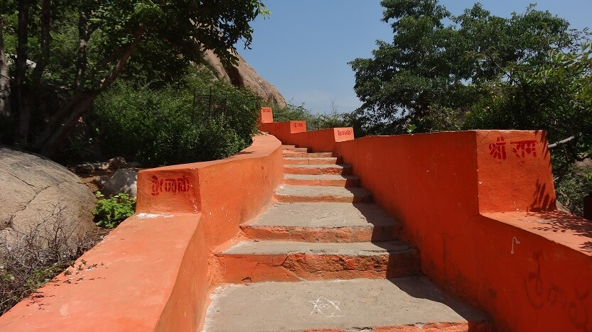 Steps Leading to Anjaneya Hill (Monkey Temple) by Drifter Planet