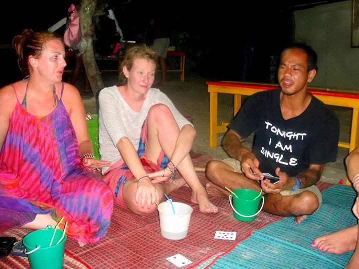 Drinking Games at night on Maya Bay