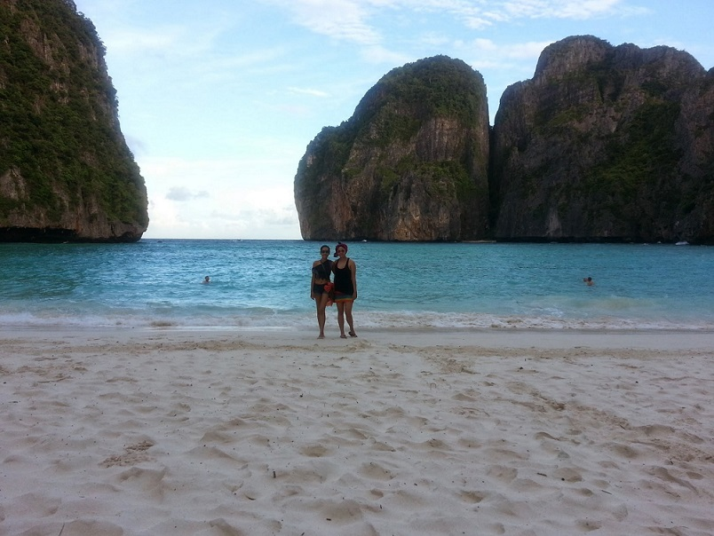 Empty Maya Bay: Rosh and I couldn't believe our luck!