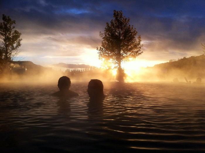 Secret Lagoon in Fludir (Iceland)
