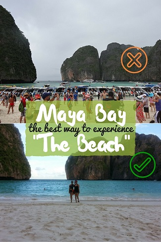 "Maya Bay: The BEST way to experience ""The Beach"". We had the island to ourselves from sunset to sunrise! by DrifterPlanet.com"