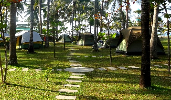 Our fancy tent for USD 55 per night in Ngwe Saung