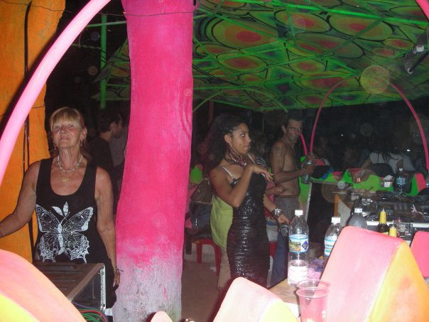 A party at Hill top (Vagator) Goa