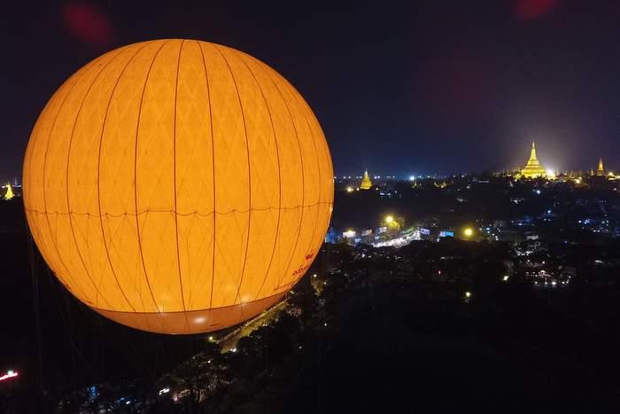 Hot air balloon ride in Yangon - things to do - Photo by Mingalarbar Balloon