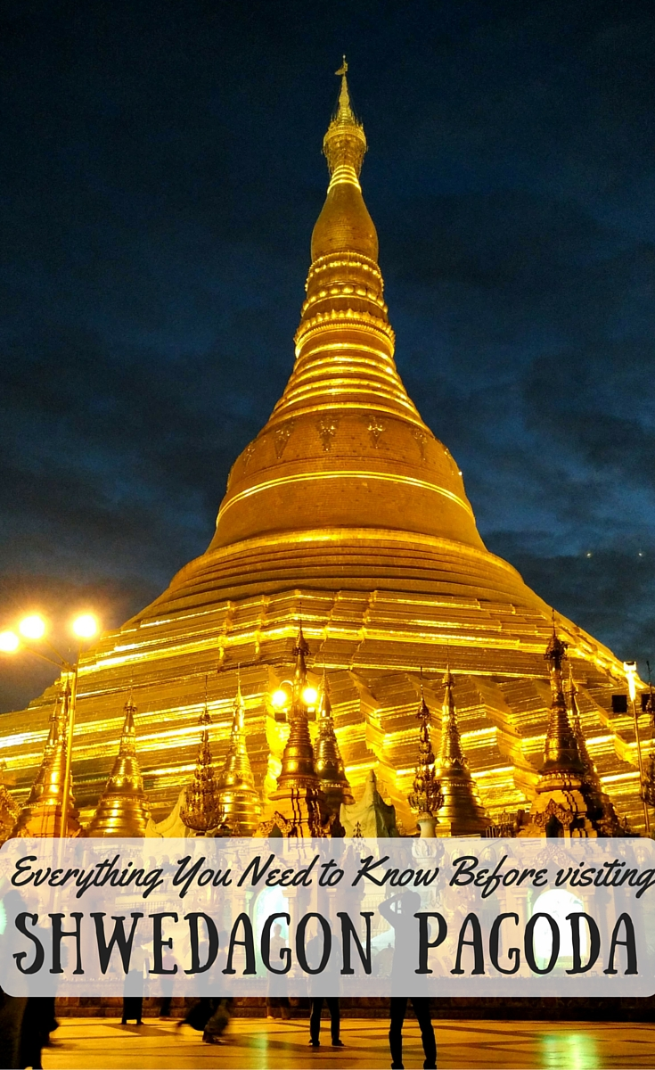 Shwedagon Pagoda at night by DrifterPlanet.com