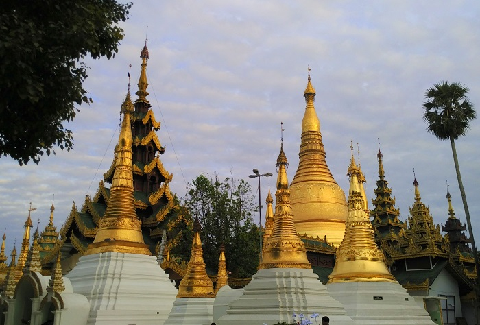 The backside of Shwedagon Pagoda