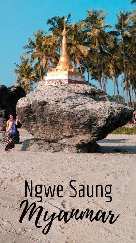 Ngwe Saung Beach Pagoda, Myanmar