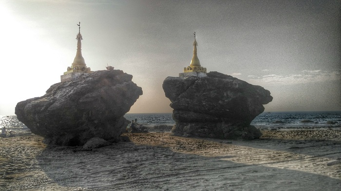 Ngwe Saung - Pagodas on the beach