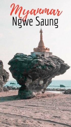 Pagodas on Ngwe Saung Beach - Myanmar