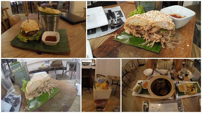 Pulled Pork burger, Tambayan Burger and Halo-halo at Tambayan Gastrobar, Manila