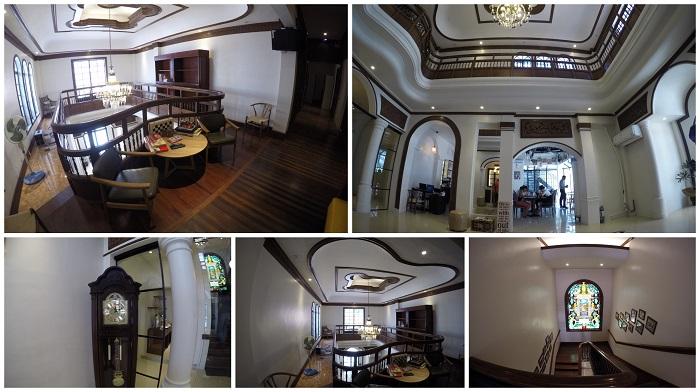 The interiors at Tambayan Capsule Hostel, Manila