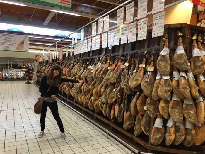 Food market in Almería, Spain
