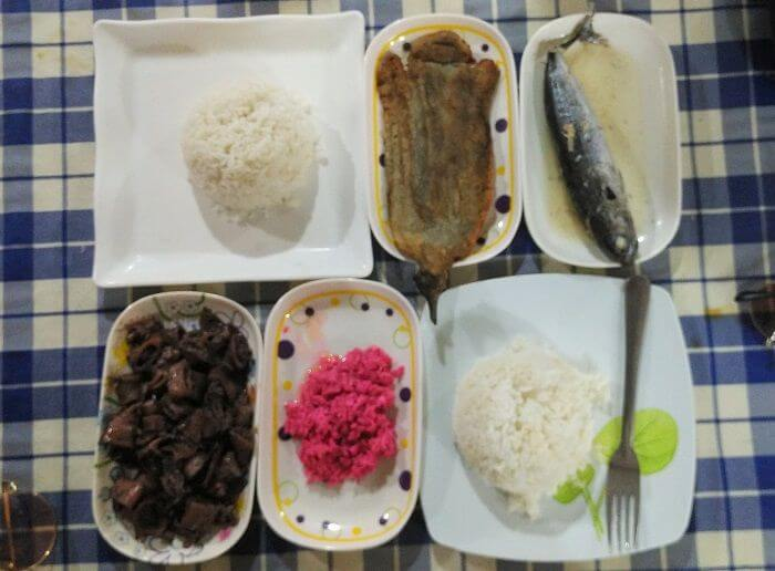 Simple Filipino Food in Panglao Island