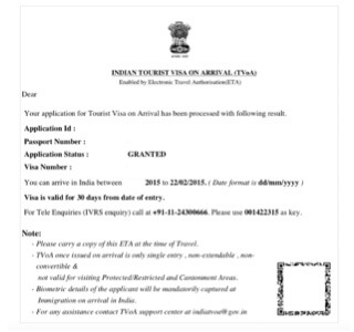 Documents Required To Travel To Sri Lanka From India