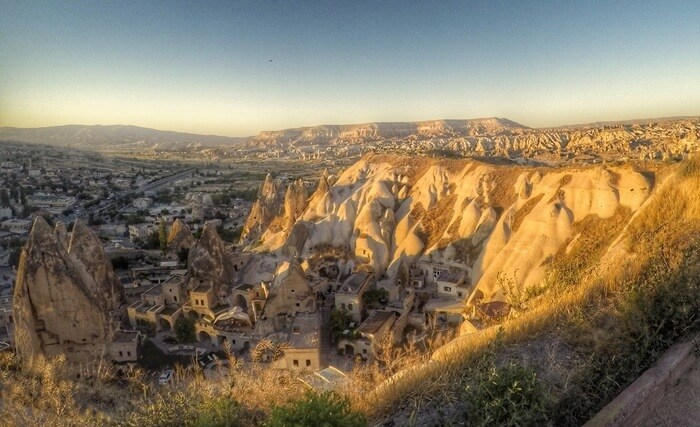 Cappadocia's unique landscape caves carved in volcanic formations