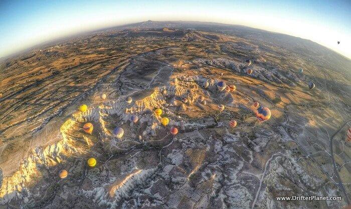 Cappadocia's stunning landscape - Hot Air Balloon Ride in Cappadocia, Turkey