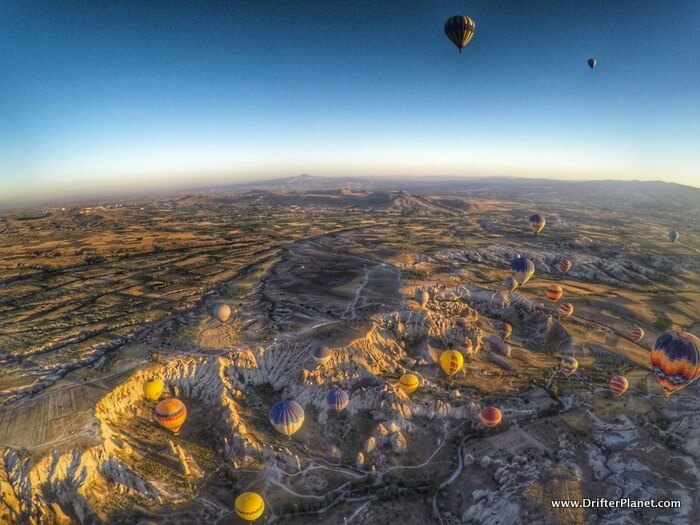 View from the top - Hot Air Balloon Ride in Cappadocia, Turkey