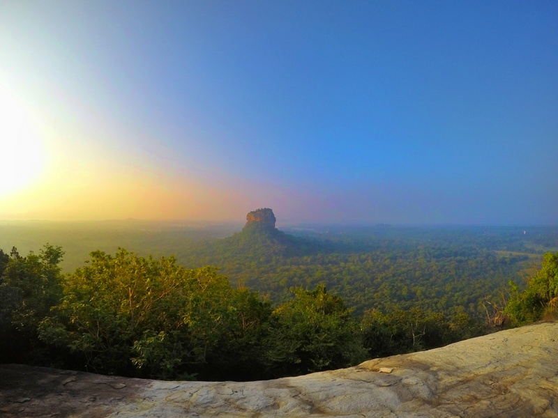 View of the famous Sigiriya Rock from Pidurangala rock