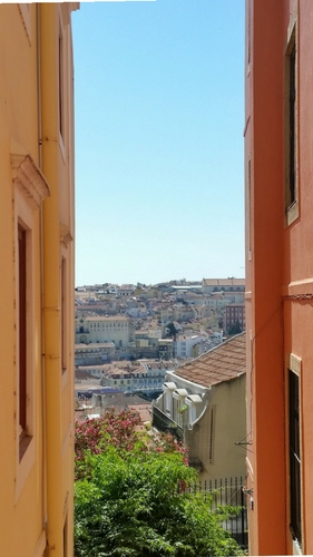 One of the many viewpoints in Lisbon - in love with Lisbon, Portugal