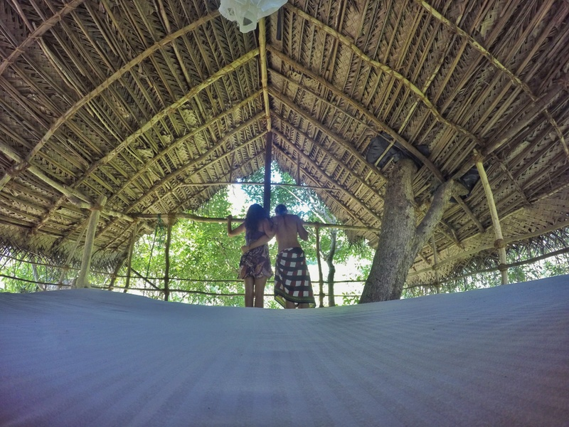 Inside our tree house in Sri Lanka at Back of Beyond, Dehigaha Ela