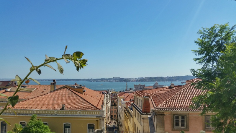 View of old town Alfama in Lisbon, Portugal