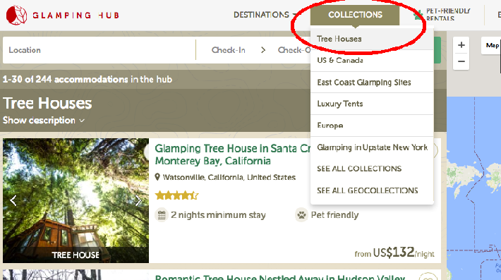Find a tree house on Glamping Hub