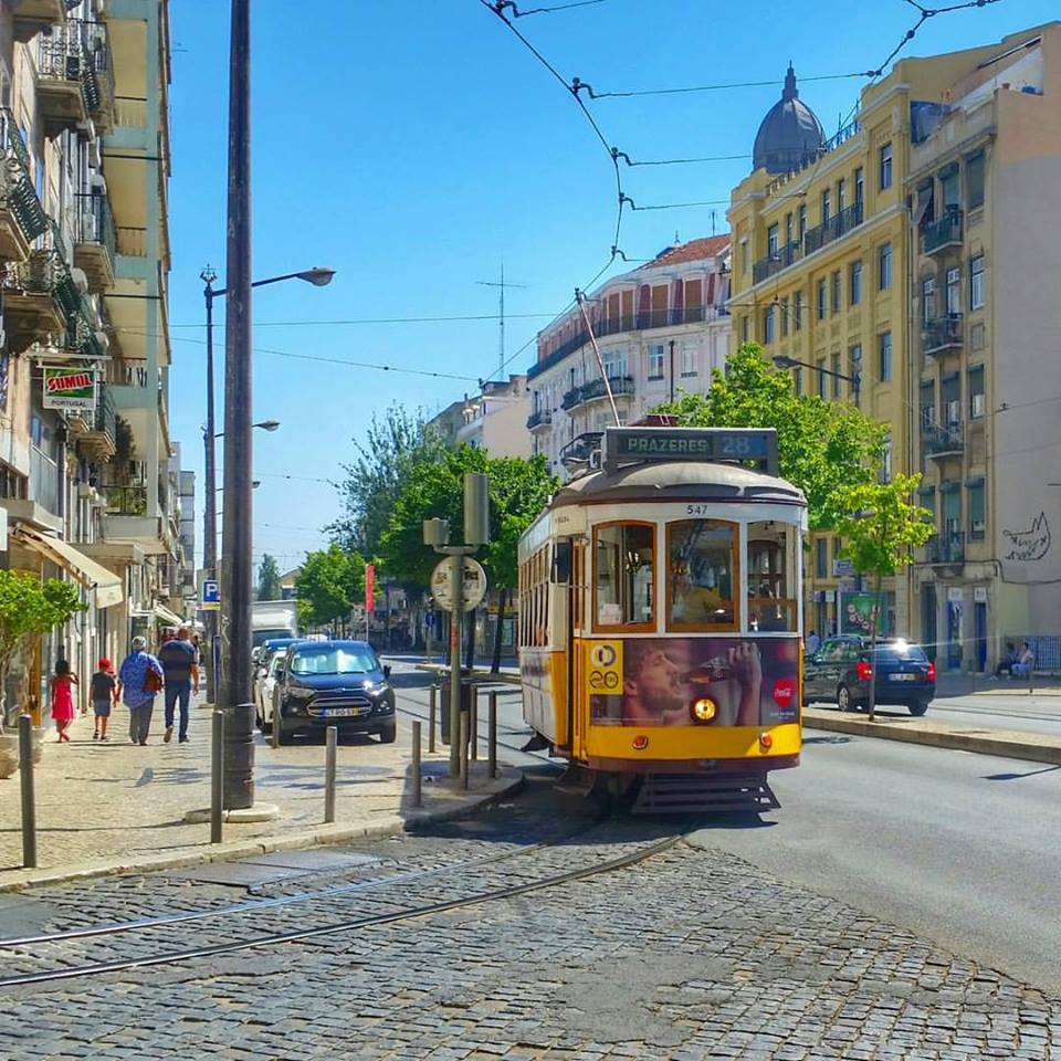 Tram 28 in Lisbon, Portugal - falling in love with Lisbon