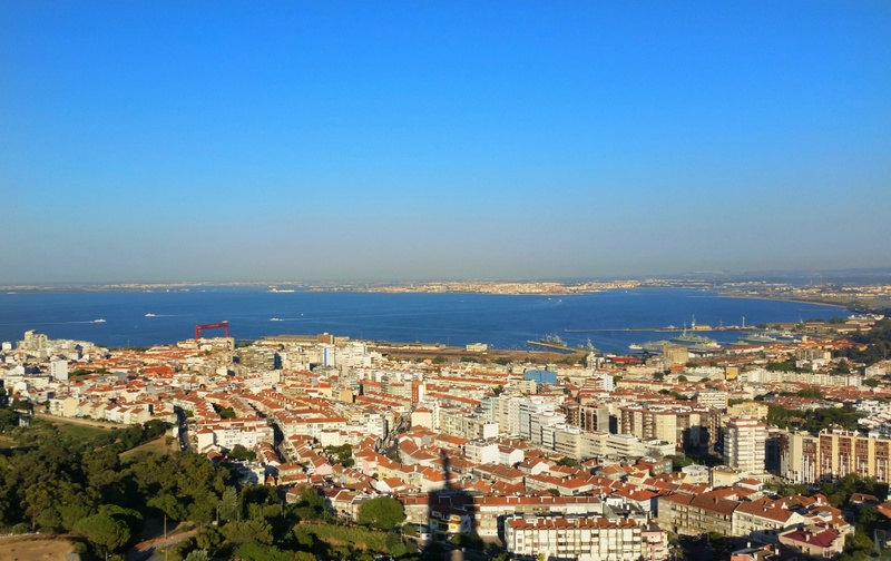 View of Lisbon from Christo Rei - Falling in love with Lison, Portugal
