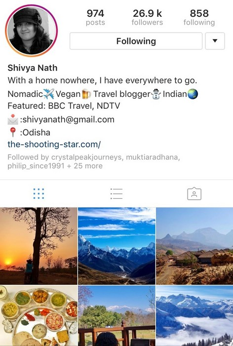 Shivya Nath on Instagram
