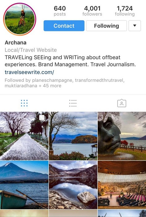 Travel, See, Write on Instagram