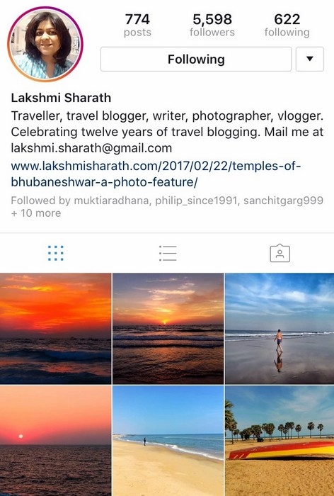 Lakshmi Sharath on Instagram