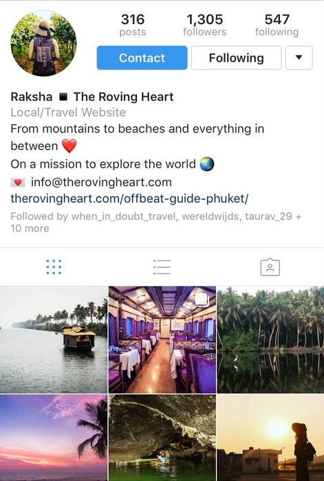 The Roving Heart on Instagram